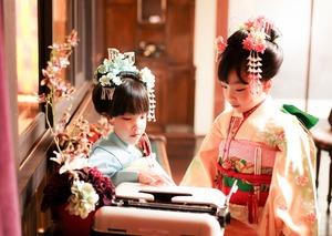 鎌倉七五三7歳写真 前撮り  双子でお祝い 1