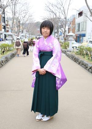 鎌倉 小学生卒業袴レンタル15