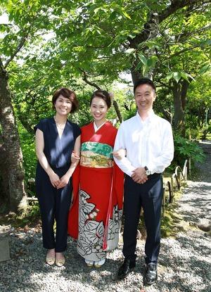 鎌倉成人式家族写真