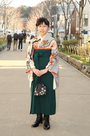 鎌倉小学生卒業袴女児15