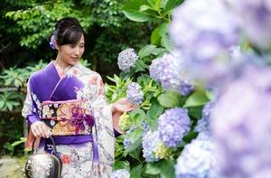 成人式前撮り 紫陽花 アジサイ ロケーションフォト 2