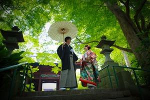 鎌倉新緑フォトウェディング和装前撮り撮影