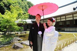 円覚寺結婚式写真方丈前庭園