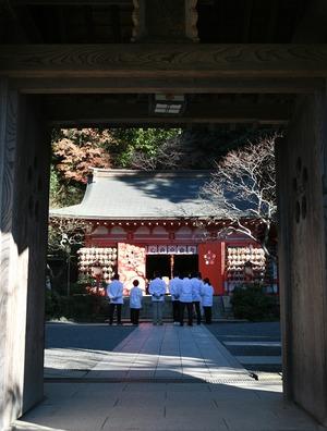 荏原天神社 正月準備