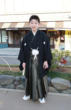 鎌倉小学生卒業袴 男児着物