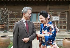 成人振袖前撮り 家族写真 鎌倉