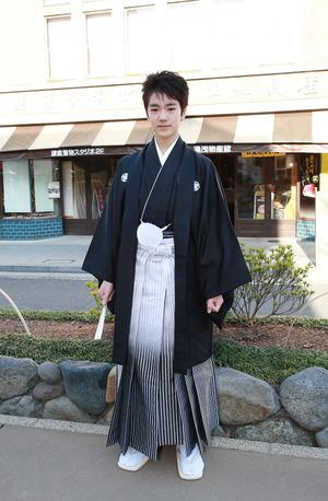 鎌倉小学生卒業袴 紋服着付け