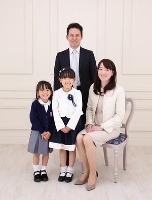 小学校入学記念家族写真鎌倉逗子葉山