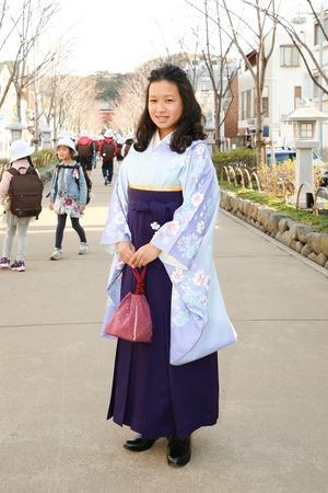 鎌倉小学生卒業袴女児19