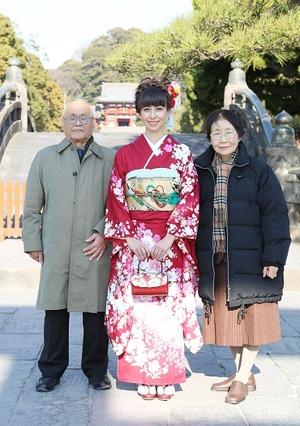 鶴岡八幡宮 成人振袖前撮り家族写真 撮影