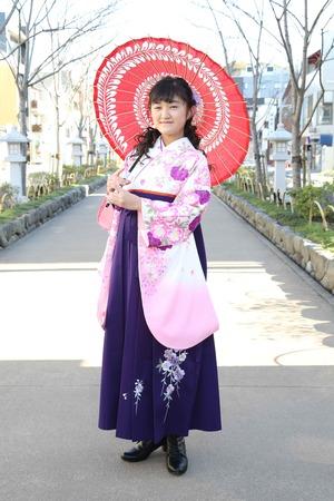 鎌倉小学生卒業袴 女児 (10)