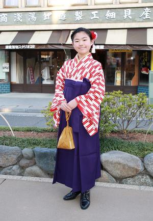 鎌倉小学生卒業袴 矢羽紺色