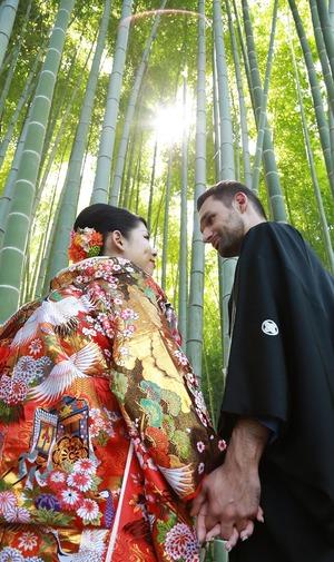 鎌倉英勝寺竹・婚礼写真