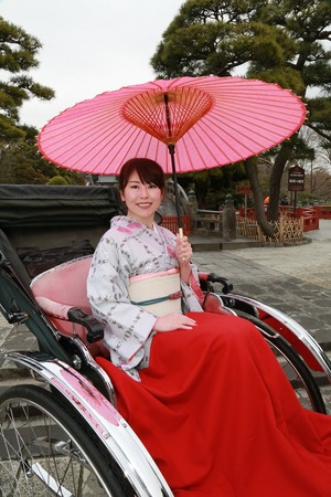 鎌倉着物散策八幡宮 (2)
