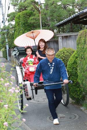 鎌倉七五三人力車写真