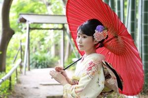 鎌倉成人振袖前撮り竹林ロケーション