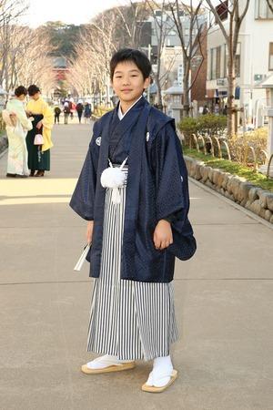 鎌倉小学生卒業袴男児18