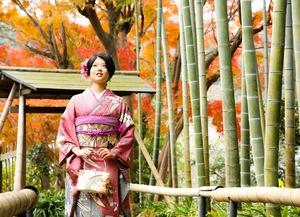 鎌倉 成人式振袖前撮り 紅葉ロケーションフォト1