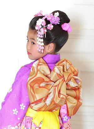 鎌倉七五三7歳帯結び揚羽蝶