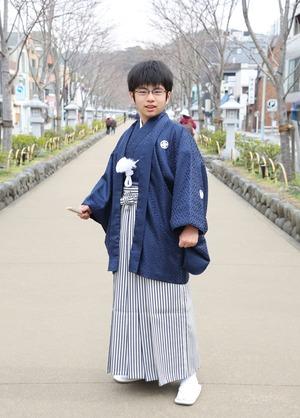 鎌倉 小学生男子 卒業袴 写真26