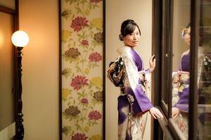 成人式 ママ振袖 前撮り アンティーク フォトスタジオ  鎌倉 5