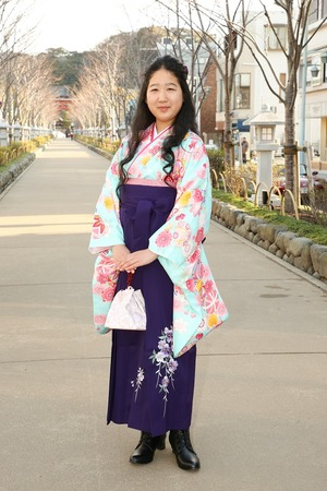 鎌倉小学生卒業袴女児12