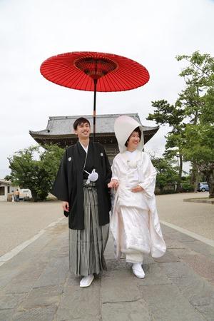 鎌倉光明寺フォトウェディング1