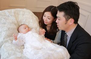 家族写真 スタジオ写真 お宮参り 産着 鎌倉 記念写真