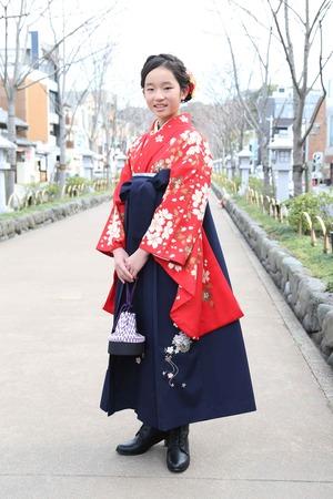 鎌倉小学生卒業袴 女児 (16)