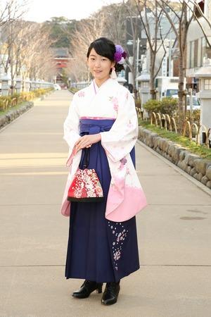 鎌倉小学生卒業袴女児9