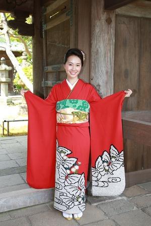 鎌倉成人式振袖ロケーション写真