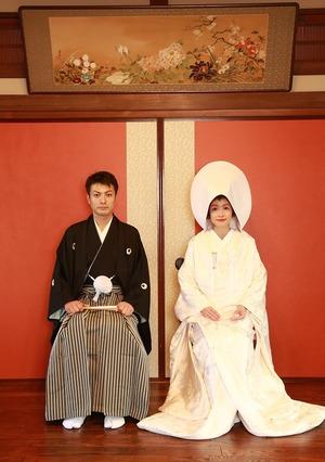 婚礼白無垢和室写真