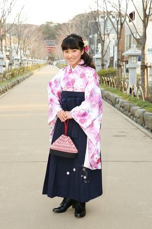鎌倉小学生卒業袴女児8