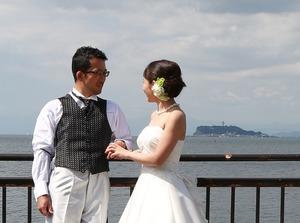 鎌倉海フォトウェディング1