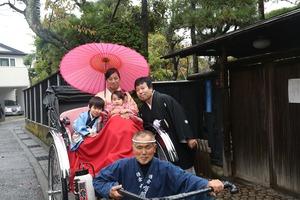 鎌倉七五三人力車ロケーション撮影