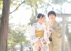 鎌倉散策 着物 カップル 記念日 写真6