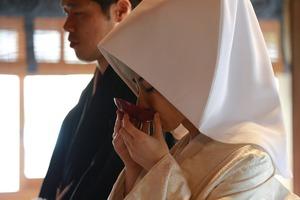 森戸大明神結婚式白無垢三献儀写真