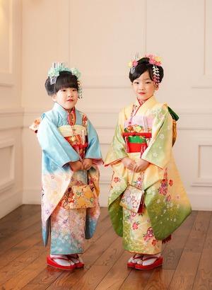 鎌倉七五三7歳写真 前撮り  双子でお祝い 5