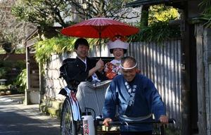 鎌倉婚礼前撮り撮影人力車ロケーション写真