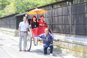 鎌倉人力車 紫陽花ロケーション