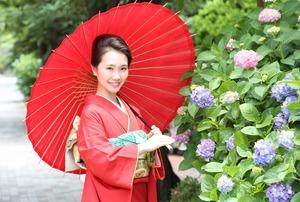 成人式前撮り 紫陽花 アジサイ ロケーションフォト 1