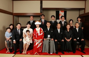 鶴岡八幡宮結婚式和室集合写真