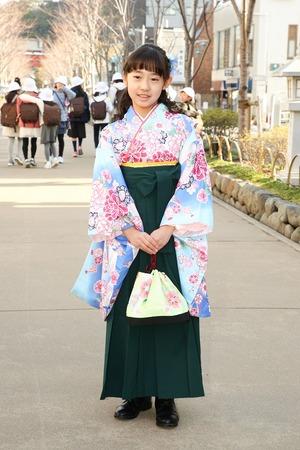 鎌倉小学生卒業袴女児21