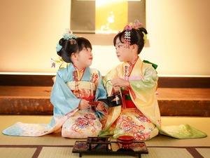鎌倉七五三7歳写真 前撮り  双子でお祝い 8