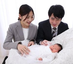 鎌倉お宮参り 家族撮影 産着 ベビードレス撮影