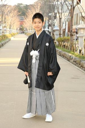 鎌倉小学生卒業袴男児11