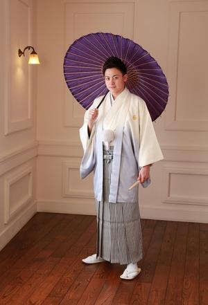 成人紋服 成人式写真 和傘 スタジオ写真