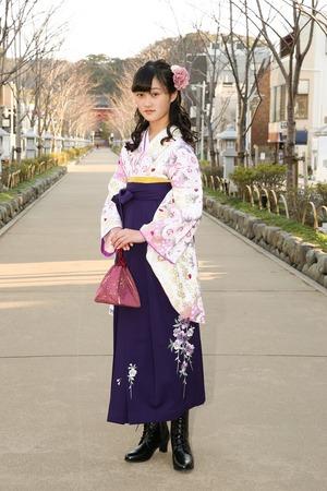 鎌倉小学生卒業袴女児6