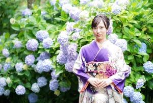 成人式前撮り 紫陽花 アジサイ ロケーションフォト 4