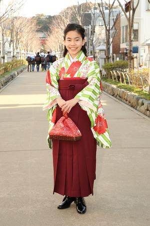 鎌倉小学生卒業袴女児18
